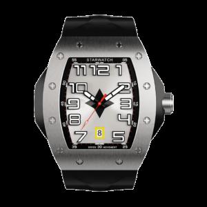 montre tonneau pour homme en acier avec bracelet de montre noir