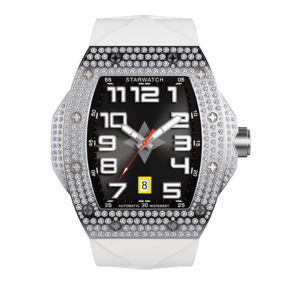 montre diamants montre tonneau montre homme bracelet de montre blanc