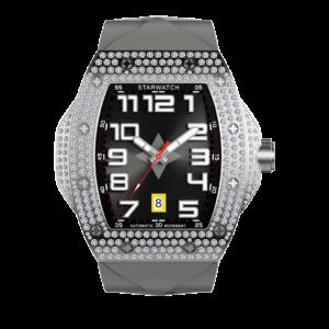 montre diamant montre tonneau montre homme avec bracelt de montre gris