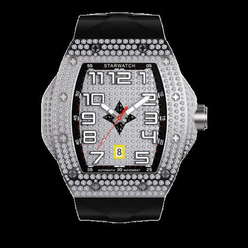 montre diamant avec bracelet noir